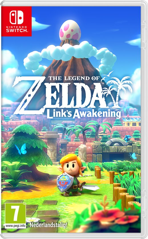 Cover van de game Zelda Links Awakening - Switch