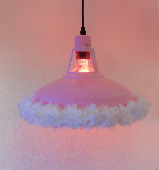 Funnylight lieve kids lamp Pretty met roze organza bloemen en vlindertjes ,Design hanglampvoor de baby kinder meisjes en jongens slaap kamer