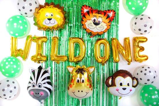 Verjaardag Peuter.Jungle Thema Versier Pakket Voor Eerste Verjaardagen Babyshower Baby Feest Kraamfeest Kinderverjaardag Verjaardag Of Ander Feest Speciaal Voor
