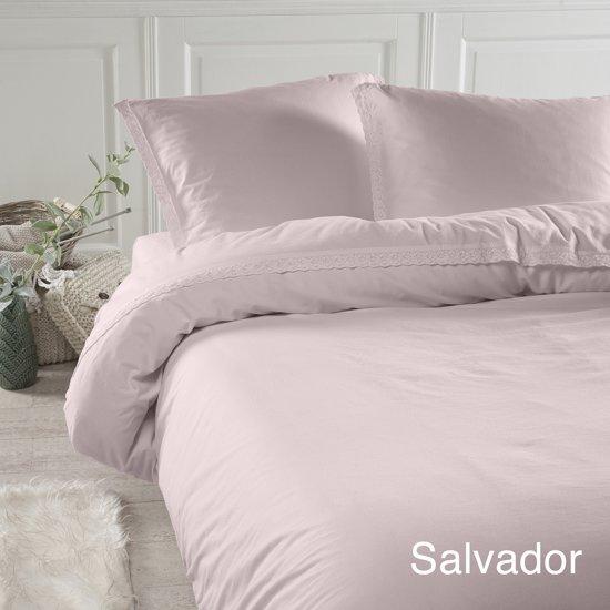 Papillon Salvador - dekbedovertrek - lits-jumeaux - 200 x 200/220 - Roze