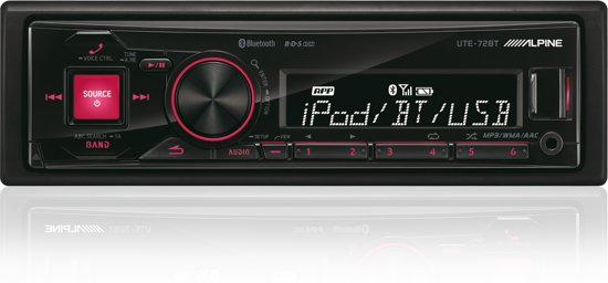 Alpine UTE-72BT Bluetooth Zwart autoradio