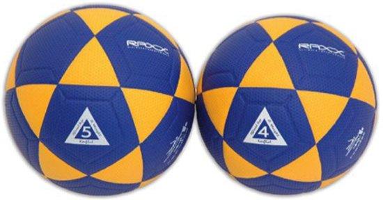 Raxx korfbal - geel/blauw - maat 5