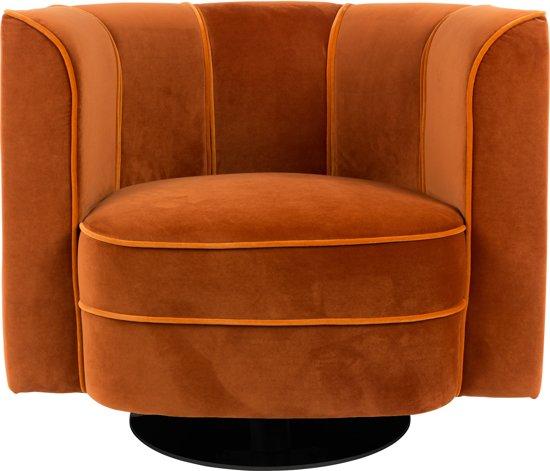 Oranje Design Fauteuil.Dutchbone Flower Fauteuil Velvet Oranje