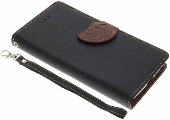 Conception Feuille Noir Tpu Type De Livre Pour Le Xcover Samsung Galaxy 4 y8J2Pt2