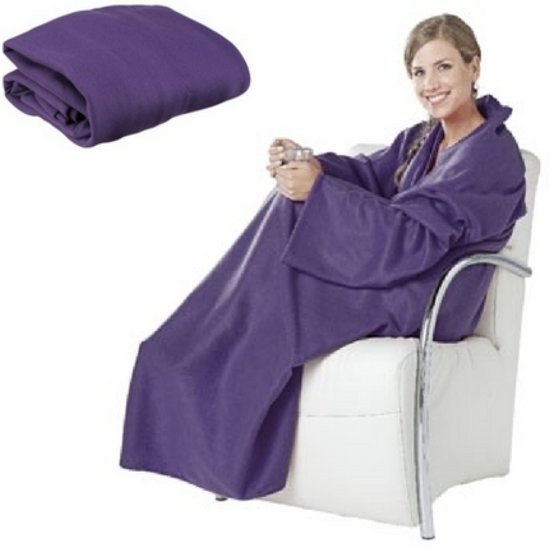 Snuggie deken PAARS | fleece deken met mouwen | dames en heren |