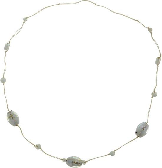 Lange ketting met glas kralen