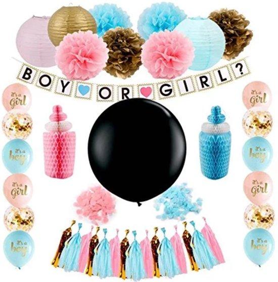 Spullen Voor Babyshower.Gender Reveal Party Decoratie Babyshower Set