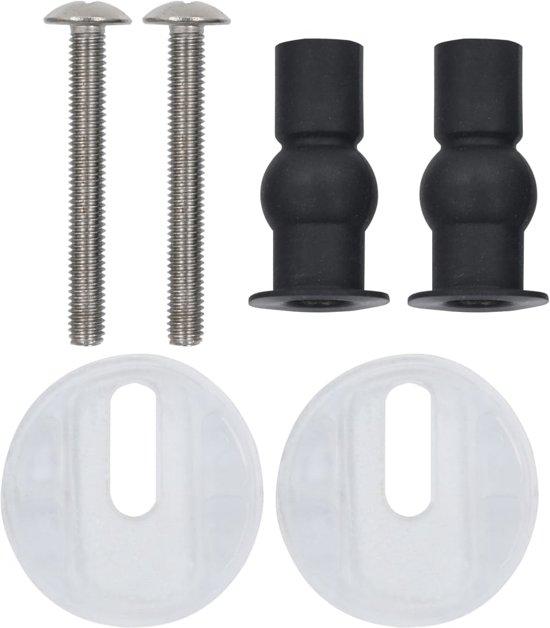 vidaXL Toiletbrillen 2 st met soft-close deksels MDF kiezelontwerp