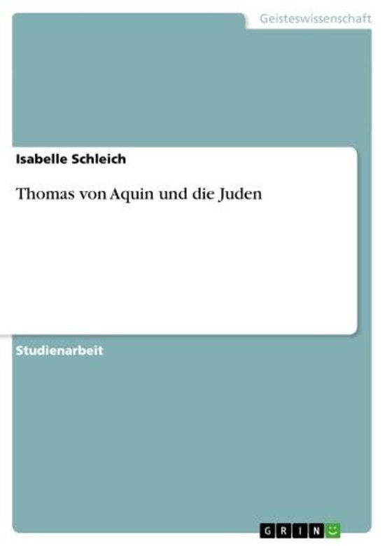 Thomas von Aquin und die Juden