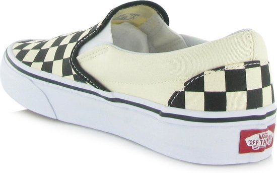 Classic Unisex Vans Blk amp;whtchckerboard Slip on wht 40 Sneakers vxxdqaOwH
