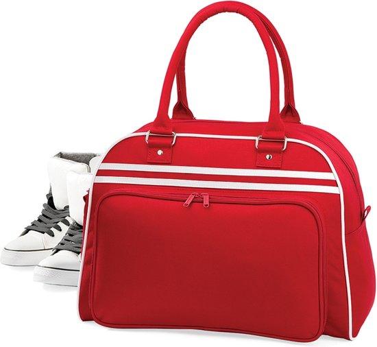 Bagbase Retro bowlingtas, Kleur Classic Red/ White