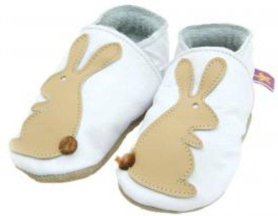 Starchild babyslofjes rabbit white caramel Maat: XL (15,5 cm)