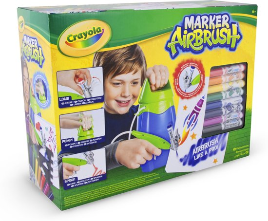 Crayola Marker Airbrush - Spray jouw eigen kunstwerk met stiften!