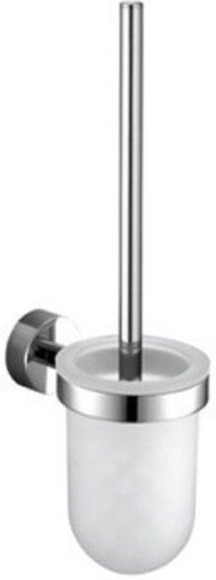 WC Borstel Set Hangend Rond Wenko Powerlock Chroom 10.5x16.5x38cm