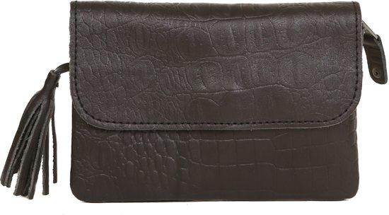 Chabo Bags Grande Petit--Clutch- Croco Black
