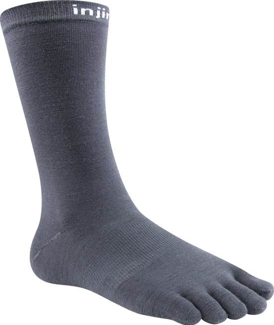 Injinji Liner Crew Nuwool Charcoal Toe Socks 44-47