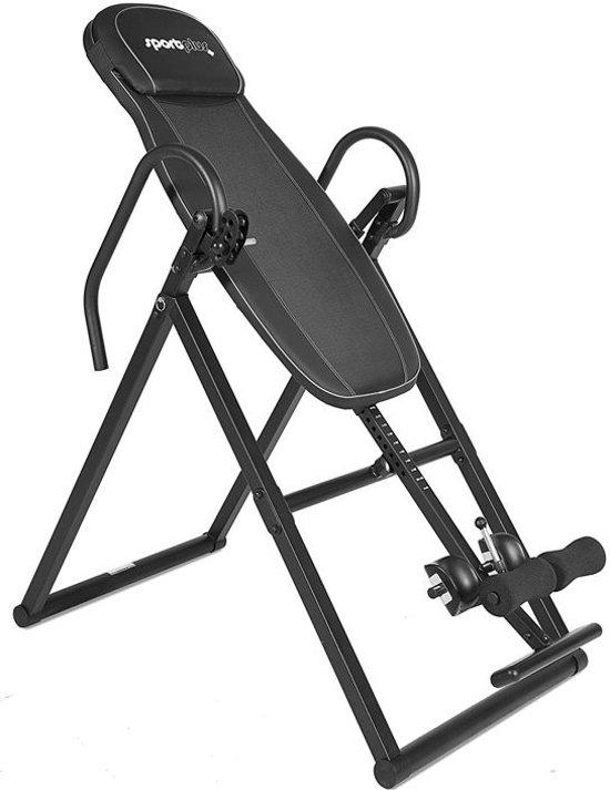 Sportplus SP-INV-010-B -Inversionbank/Gravity trainer met 'Perfect-balance' systeem, gebruikersgewicht tot 135 kg, lichaamslengte tot 199 cm - zwart