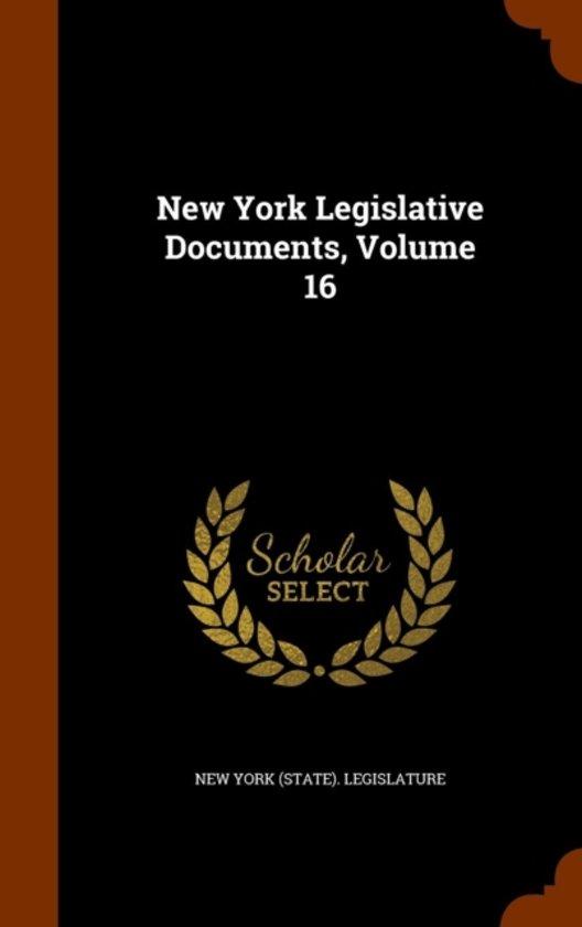 New York Legislative Documents, Volume 16
