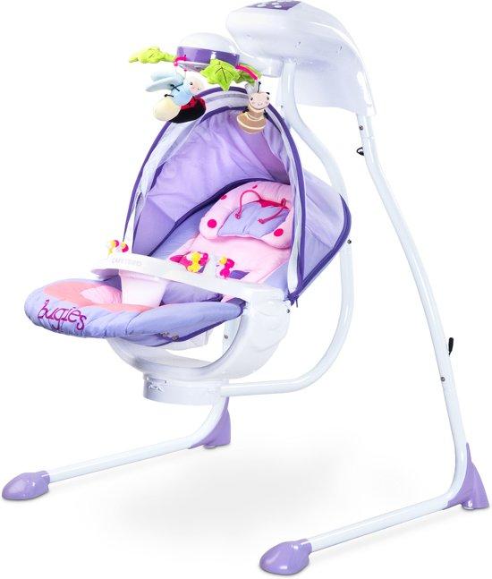 Baby Schommelstoel Automatisch.Baby Schommelstoel Caretero Bugies Paars Geschikt Voor Newborns