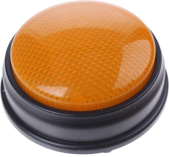 Afbeelding van het spel Johntoy Buzzer Met Licht En Geluid Oranje 8 Cm