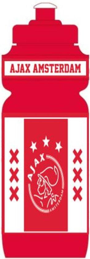 Bidon Ajax wit/rood/wit xxx 750 ml