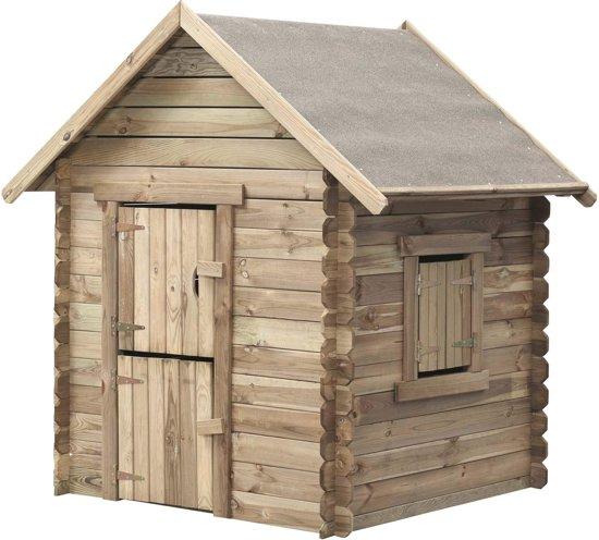 Swing King speelhuis Louise 120x120x160cm - Geïmpregneerd FSC hout