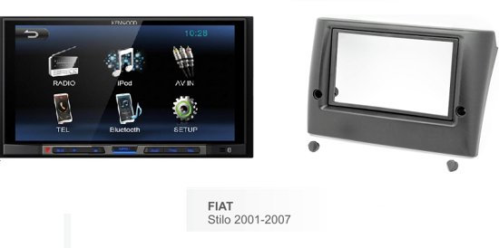 autoradio Fiat Stilo 2001 - 2007  kenwood met bluetooth / usb aux in Hinnaard / Hennaard