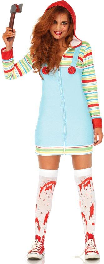 Cozy Killer Doll kostuum - S - Multicolours - Leg Avenue
