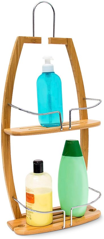 bol.com | relaxdays doucherek hout - badkamerrek 2 etages- houten ...
