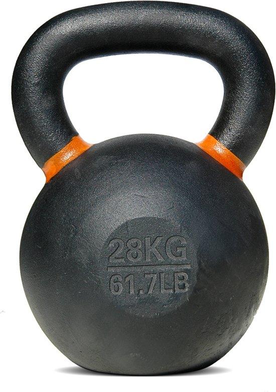 Bodytrading - Powder Coated - Kettlebell - per stuk - 28 KG - oranje