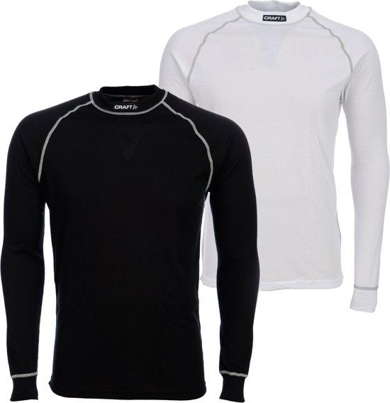 Craft Active 2-Pack Tops Thermoshirt Heren - Black/White - Maat L