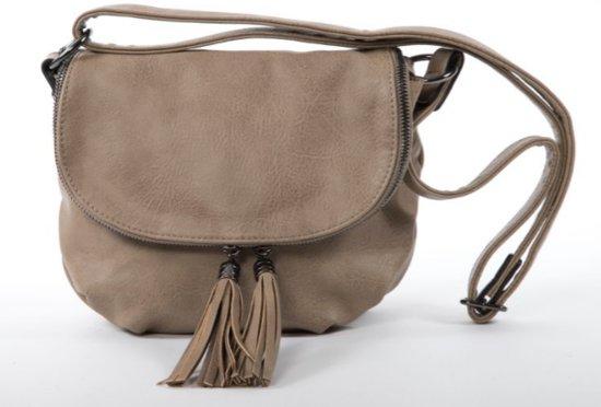 876f2c57e1b bol.com | Flora & Co Vintage CrossBody Dames Handtas Taupe Claire-H7658