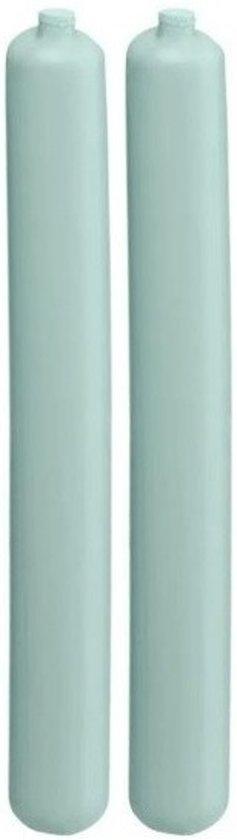 2x Koelelement staaf mintgroen 2,5 x 20 cm - Koelblokken/koelelementen voor koeltas/koelbox