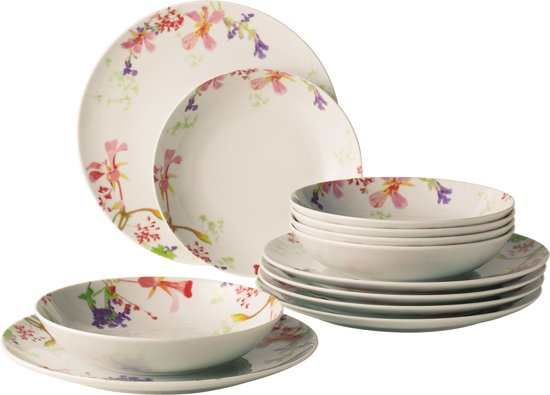 Villeroy En Boch Borden.Vivo By Villeroy Boch Group Flower Meadow Bordenset 12 Delig