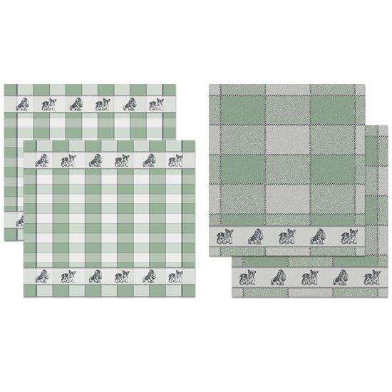 DDDDD Keukendoeken En Theedoeken Set Joep Green (2+2 stuks)