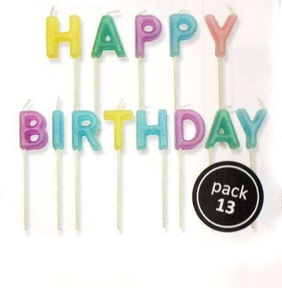 PME Candles Happy Birthday Pastel Set/13 Valentinaa
