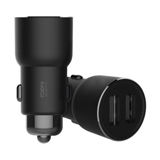 Roidmi 3S FM transmitter · Dubbele USB auto oplader · Xiaomi - Zwart