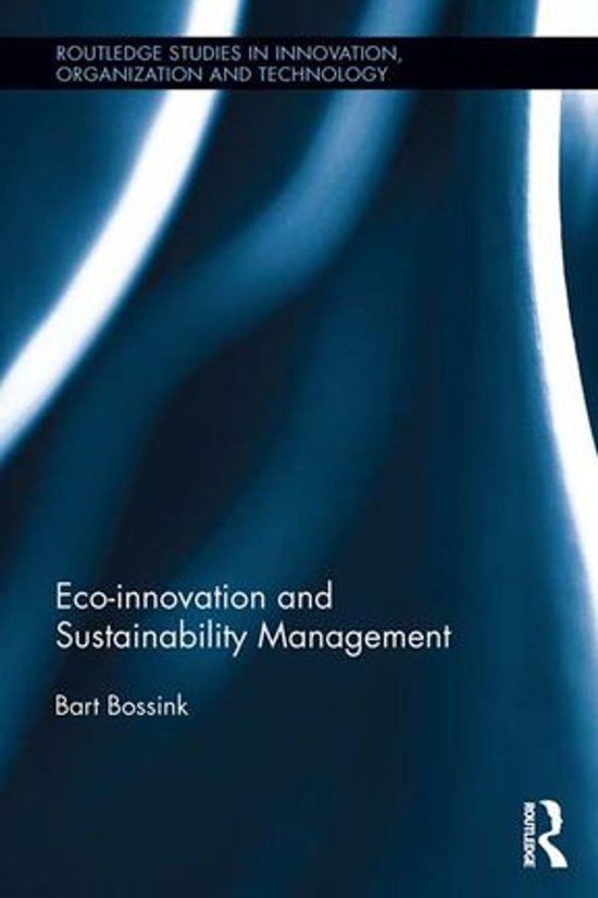 Boek cover Eco-Innovation and Sustainability Management van Bart Bossink (Onbekend)