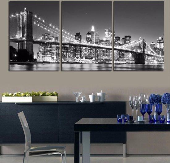 bolcom new york by night skyline 3 luik drieluik