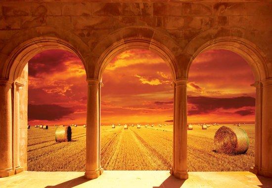 Fotobehang Harvest Sunset Through The Arches   L - 152.5cm x 104cm   130g/m2 Vlies