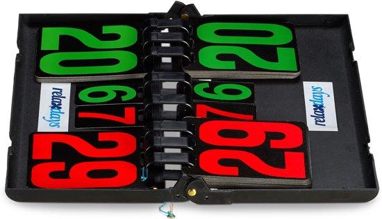 relaxdays - tafeltennis scorebord - grote getallen - puntenbord - telbord