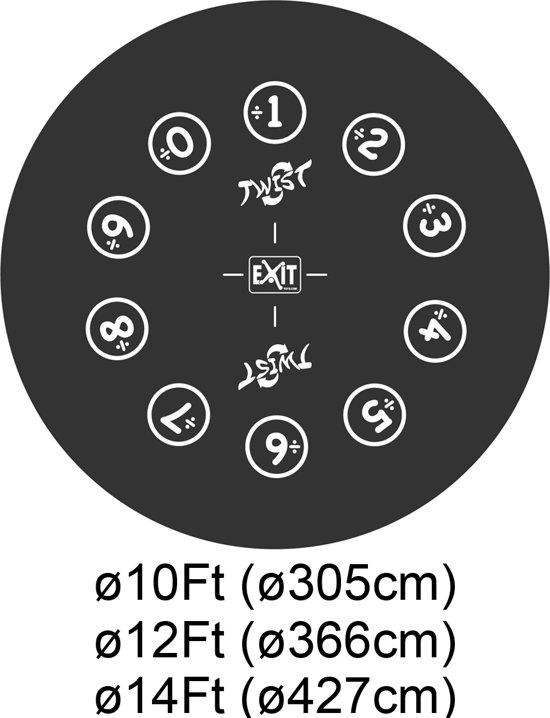 EXIT Twist Trampoline - 427 cm - Lime-Groen/Grijs - Inclusief Veiligheidsnet