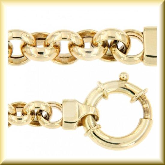 14 karaat gouden Jasseron ketting  van 45 cm