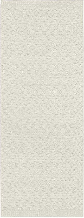 Moderne loper ruiten Avenue - crème 76x200 cm