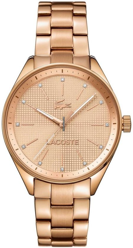 Lacoste horlogeband 2000899 / LC-82-3-34-2603 Staal Rosé 18mm