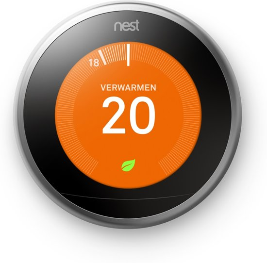 Nest Learning Thermostat - Slimme thermostaat - RVS