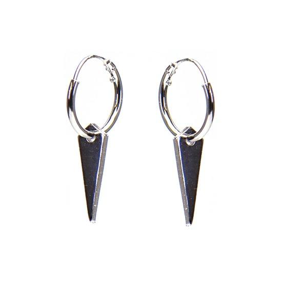 Karma Hoops Cone Silver Oorstekers  - Zilver