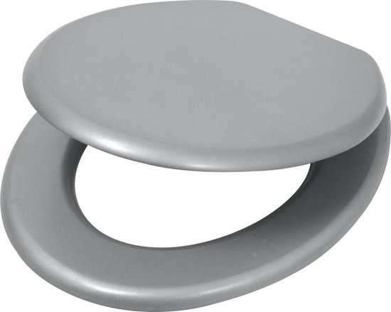 Plieger Classic wc-bril - MDF - Metalic
