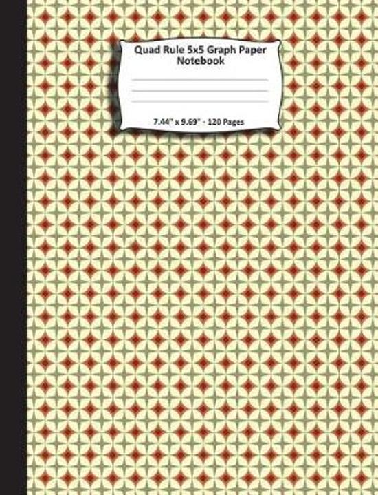quad rule 5x5 graph paper notebook 7 44 x 9 69 120 pages