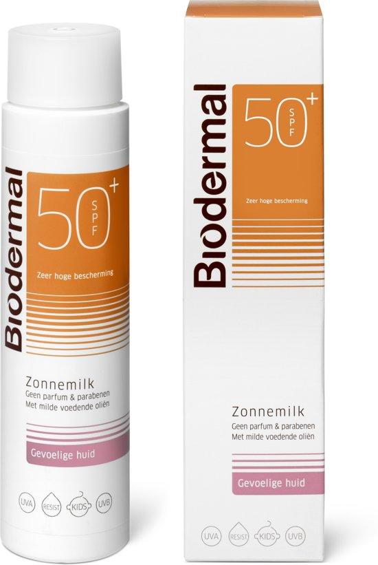 Biodermal Gevoelige Huid SPF 50+ - 150 ml - Zonnebrand crème
